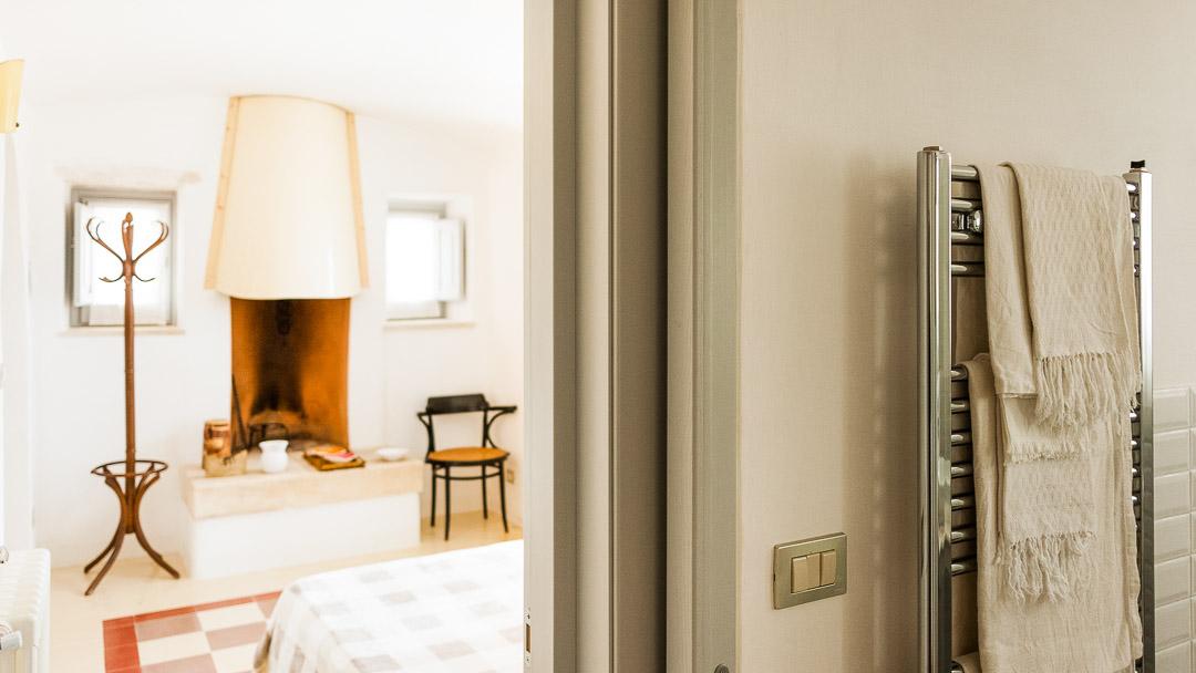 Panaché, corridoio, servizi, camera matrimoniale - Agriturismo nei Giardini di Pomona