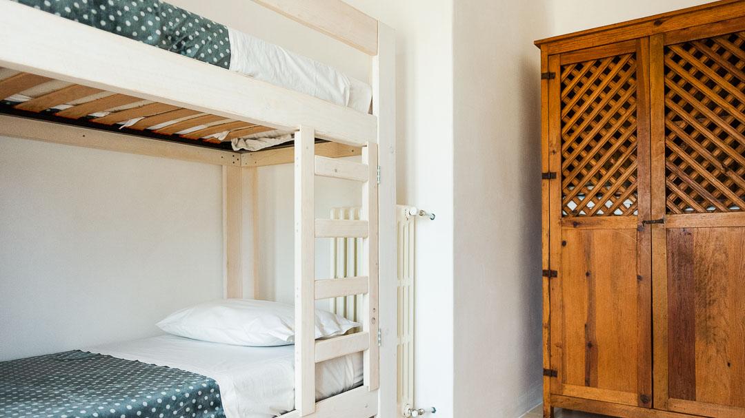 Panaché, camera con 2 letti a castello - Agriturismo nei Giardini di Pomona